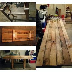 Custom beer pong table from leftover pallets!