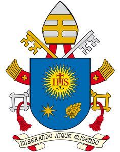 Revised Coat of Arms for Pope Francis  https://www.facebook.com/photo.php?fbid=549700205074573=a.537340002977260.1073741825.375882539123008=1