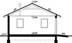 Projekt garażu G239 - Budynek garażowo - gospodarczy 56,5 m2 - koszt budowy - EXTRADOM Floor Plans, Diagram, House, Home, Homes, Floor Plan Drawing, Houses, House Floor Plans
