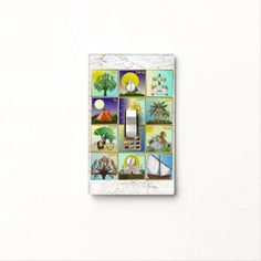 Judaica 12 Tribes Of Israel Art Print Light Switch Cover   by Lee Hiller #Judaica
