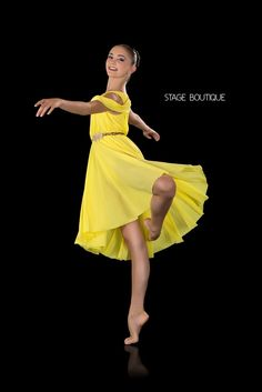 LYRICAL DRESS - POLISHED, $69, Yellow Slow Modern Dance Costume, Stage Boutique, www.stageboutique.com