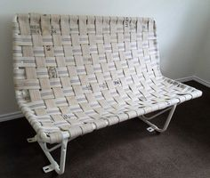Hand Riveted and Woven Firehose Bench made from by GoodTimeJunkin, $1500.00