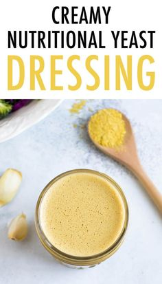 This nutritional yeast dressing with apple cider vinegar and garlic has an umami-rich flavor. You'll want to drizzle this creamy dressing on everything! Best Salad Recipes, Salad Dressing Recipes, Whole Food Recipes, Vegetarian Recipes, Cooking Recipes, Healthy Recipes, Oil Free Salad Dressing, Yummy Recipes, Nutritional Yeast Recipes