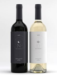 Nocturnalis / Durinalis wine bottles designed by  Marcel Buerkle