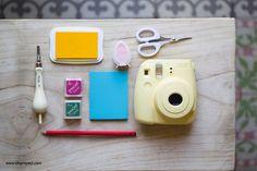 DIY guirnalda de luces led, fotos y sellos