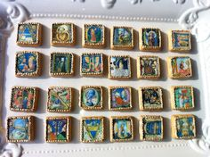 LUMINARIUM BLOG: MEDIEVAL ILLUMINATED INITIAL COOKIES
