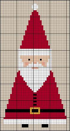 O Blog da DMC: HO HO HO! Decoração Pai Natal em ponto de cruz