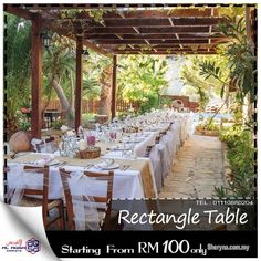 Rectangle Table, Banquet Tables, Outdoor Furniture Sets, Outdoor Decor, Building Design, Table Decorations, House, Home Decor, Business