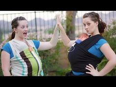 ▶ BABY WEARING HOW TO! (+ Mini Review) - Tula & Moby Wrap - YouTube. She is so cute and very detailed on how to put on a Moby/Tulla
