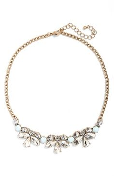 Free shipping and returns on BP. Dainty Teardrop Statement Necklace at Nordstrom.com. Clusters of teardrop crystal sparkle on a pretty statement necklace suspended from a thick goldtonechain.