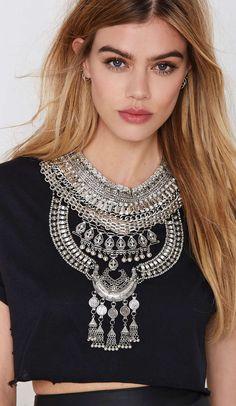 Boho statement necklace
