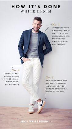 JCrew style tips // white denim for men