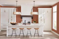 Top 10 Wall Paint Colors To Elevate Your Kitchen Space Small Kitchen Cabinets, Farmhouse Kitchen Island, Country Kitchens, Farmhouse Kitchens, White Cabinets, Farmhouse Style, Best Paint Colors, Wall Paint Colors, Gray Paint