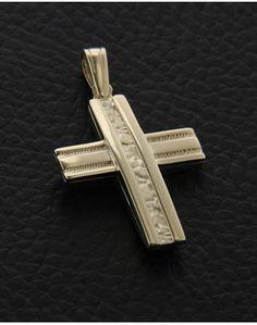 Σταυρός βάπτισης χρυσός Κ14 δύο όψεων