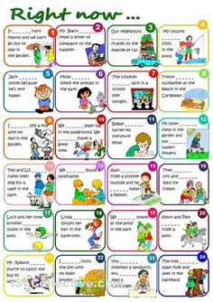 English, 1st ESO grade CUNIT: Present continuous. Exercises 1