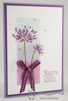 The Crafty Owl's Blog | You're Too Kind Card for Colour Q