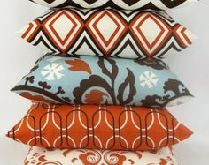 orange pillows on Etsy, a global handmade and vintage marketplace.