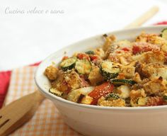 Baked tofu au gratin with vegetables - Gluten Free Celiacos Veg Recipes, Vegetarian Recipes, Cooking Recipes, Healthy Recipes, Sin Gluten, Gluten Free, Baked Tofu, Going Vegan, Raw Vegan