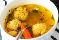 Russian Meatball Soup is loaded with beautiful and tender chicken meatballs floating in a warm and comforting broth. It's an ultimate sniffle soother! Crispy Chicken, Chicken Soup, Russian Chicken, Russian Recipes, Russian Dishes, Russian Foods, Ukrainian Recipes, Croatian Recipes, Hungarian Recipes