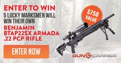 Enter To Win Your Own $750 Armada .22 PCP Rifle #contestentry http://sweepstakes.guncarrier.com/c/c4uqzak5