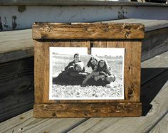 Wood Frame, 5x7 Frame, 4x6 Frame, Wall Art, Wall Frame, Hanging Frame, Rustic Picture Frame, Rustic Decor