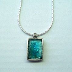 #46 Roman Glass Necklace delicate designer jewelry