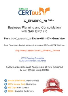 Candidate need to purchase the latest SAP C_EPMBPC_70 Dumps with latest SAP C_EPMBPC_70 Exam Questions. Here is a suggestion for you: Here you can find the latest SAP C_EPMBPC_70 New Questions in their SAP C_EPMBPC_70 PDF, SAP C_EPMBPC_70 VCE and SAP C_EPMBPC_70 braindumps. Their SAP C_EPMBPC_70 exam dumps are with the latest SAP C_EPMBPC_70 exam question. With SAP C_EPMBPC_70 pdf dumps, you will be successful. Highly recommend this SAP C_EPMBPC_70 Practice Test.