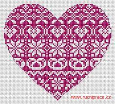 Big heart, free cross stitch patterns and charts Minecraft Heart, Cross Stitch Embroidery, Cross Stitch Patterns, Cross Stitch Heart, Heart Crafts, Needlework, Free Pattern, Sewing, Google