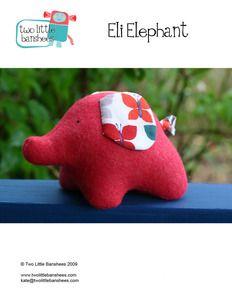 Eli Elephant - PDF Pattern