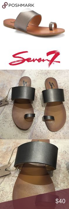 | Seven7 | Pewter Lucy Sandals Brand new with tags. (Will only send box upon request) Never been worn. Very simple and chic design.💥LOWEST PRICE, NO OFFERS💥 Seven7 Shoes Sandals