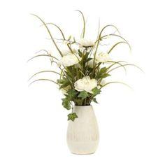 Cream Peony Vase Arrangement | Kirklands