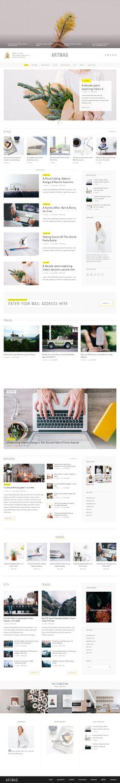 Artmag is Premium full Responsive Retina #WordPress #Magazine Theme. Visual Composer. Bootstrap 3 Framework. #MinimalDesign. Test free demo at: http://www.responsivemiracle.com/artmag-premium-responsive-wordpress-magazine-theme/