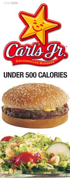 Food Under Carl's Jr. Check out our fast food under 500 series here!Check out our fast food under 500 series here! Low Calorie Fast Food, Fast Food Diet, Fast Food Menu, Low Calorie Recipes, Healthy Fast Food Choices, Fast Healthy Meals, Healthy Options, Healthy Recipes, Healthy Eats