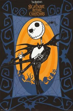 A great posterof Jack Skellington from Tim Burton's fun and eerie Halloweenmovie A Nightmare Before Christmas! Fully licensed. Ships fast. 22x34 inches. Check