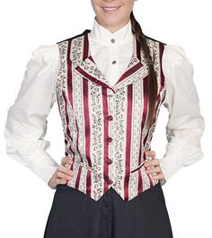 Scully Rangewear Lady Mansfield Vest  Wild West Mercantile – Authentic Old West Clothing & Accessories.  Find items like this and much more at www.wildwestmercantile.com