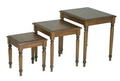 OSP Designs Knob Hill Collection 3Piece Nesting Tables Antique Cherry Finish * You can get more details by clicking on the image.Note:It is affiliate link to Amazon. #art