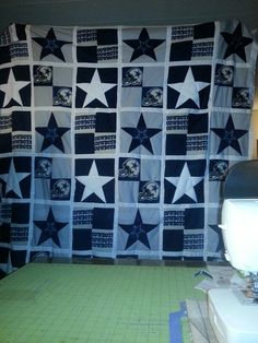 Dallas cowboys quilt.  www.facebook.com/SylviasCozyQuilts