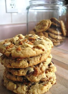 Skor, peanut butter, and chocolate chip cookies | Posted By: DebbieNet.com