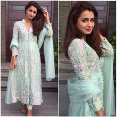 Samavi bedazzles in this multi pastel ensemble. #mint #ajformals #ansabjahangirstudio #easternwear #pearls #pakistanfashion #karachi #lahore #luxe #swarovskicrystals #weddingdiaries