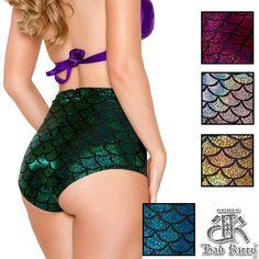NEW ITEM: Sparkly Empire Mermaid Shorts - $27.95 http://www.badkitty.com/mermaid-shorts.html