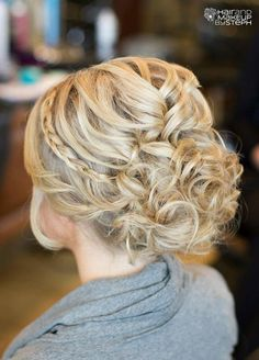 A crown braid adds a touch of elegance to an up-do. Wedding Hairstyles, Bridal Beauty