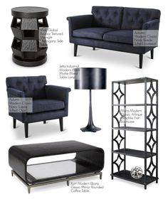 """""""Bachelor Pad - Back Home Decor"""" by kathykuohome ❤ liked on Polyvore featuring interior, interiors, interior design, home, home decor, interior decorating, MARA, homedecor, bachelorpad and blackhomedecor"""