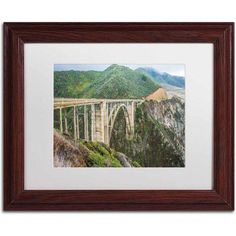 Trademark Fine Art Bixby Canvas Art by Pierre Leclerc, White Matte/Wood Frame, Size: 16 x 20, Multicolor