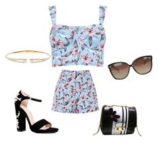 """Untitled #214"" by zejnilovicadelisa ❤ liked on Polyvore featuring Boohoo, Nadri and Linda Farrow"