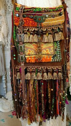 Handmade Ibiza Festival Suede Leather Fringe Bag Hippie Boho Gypsy Purse tmyers #Handmade #MessengerCrossBody