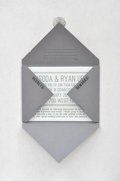 wrk-shp wedding invitation / paper & type.