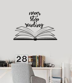 vinyl-wall-decal-open-book-quote-reading-room-library-decor-stickers-mural-ig/ delivers online tools that help you to stay in control of your personal information and protect your online privacy. School Library Decor, Library Wall, Library Decorations, Library Themes, Office Wall Decals, Vinyl Wall Decals, Vinyl Art, Wall Sticker, Library Quotes