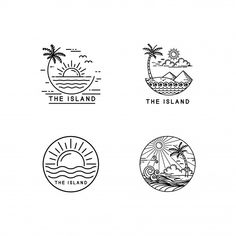 Find tips and tricks, amazing ideas for Vintage logos. Discover and try out new things about Vintage logos site Kritzelei Tattoo, Surf Tattoo, Surf Design, Travel Design, Strand Logo, Logo Voyage, Brand Identity Design, Branding Design, Inspiration Logo Design