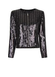 MANGO - Sequins beads jacket
