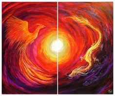 Color blending is awesome Phoenix Painting, Phoenix Art, Phoenix Dragon, Phoenix Rising, Art And Illustration, Art Pictures, Art Images, Painting Inspiration, Art Inspo